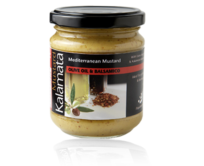 Mediteranean mustard with olive oil and balsamic vinegar