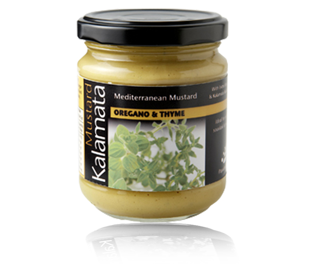Mediteranean mustard with oregano and thyme