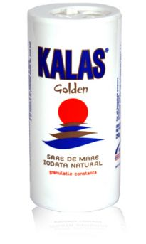 Kalas golden cylindrical salt