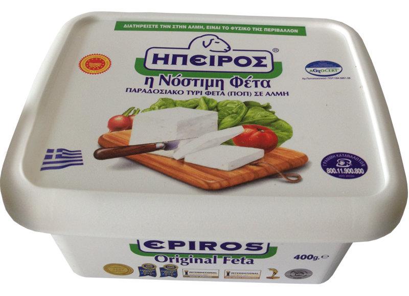 Feta cheese Epiros, plastic box, 400 gr