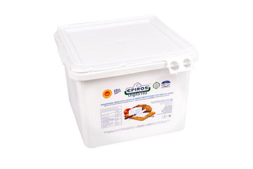 FETA EPIRUS-43% grasime, P.D.O. in saramura-Bidon plastic 8kg pret per KG