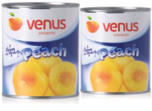 Compot de piersici jumatati in sirop salb indulcit Venus 820g